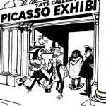 Picasso show cartoon